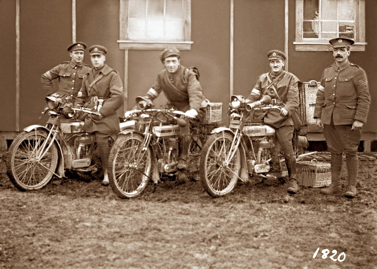 Despatch Rider during World War 1